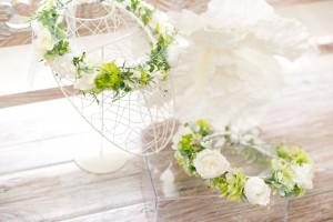 親子で揃えられるマタニティフォト用花かんむり
