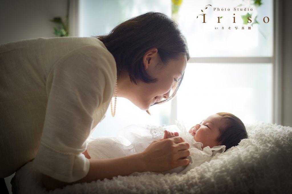お宮参り 百日記念 赤ちゃん ママと一緒 ベビードレス