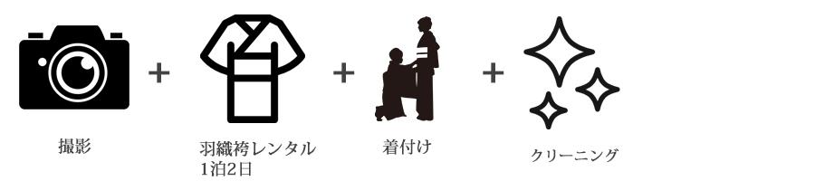 男性羽織袴前撮りお出かけプラン