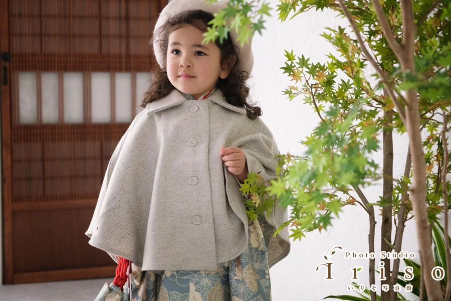 三歳 七五三 モダン着物 かわいい