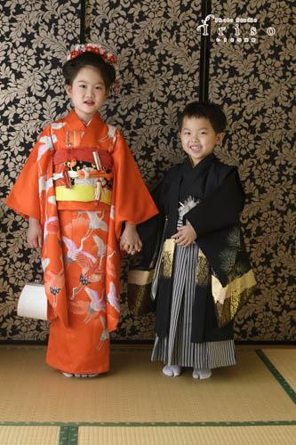兄弟姉妹と一緒に写真 三歳 五歳 七歳 七五三 和装 着物